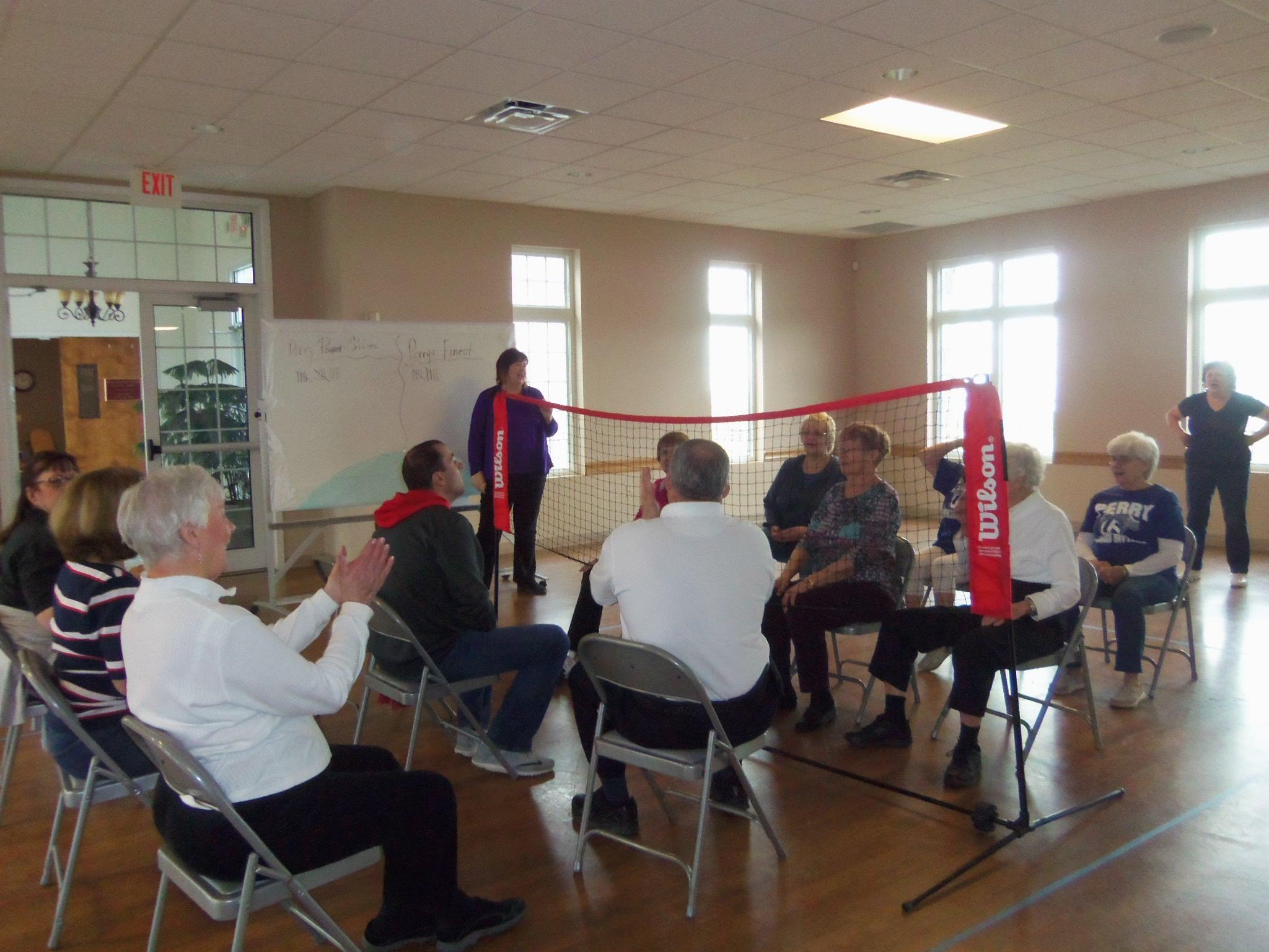 wheelchair volleyball v steam chair perry community senior center