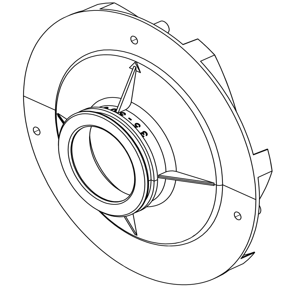 hight resolution of pentair challenger pump 2 3 hp diffuser 355545