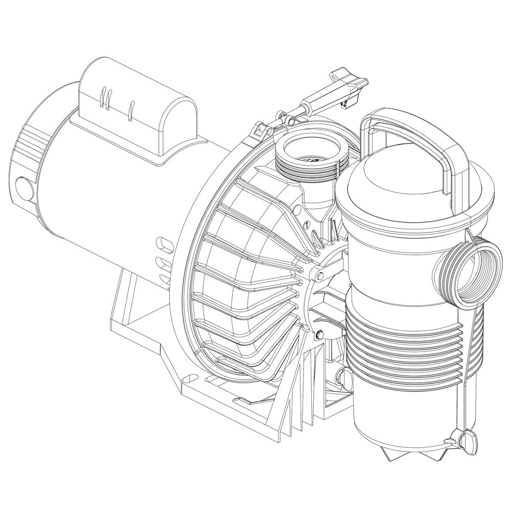 hight resolution of pentair challenger pump
