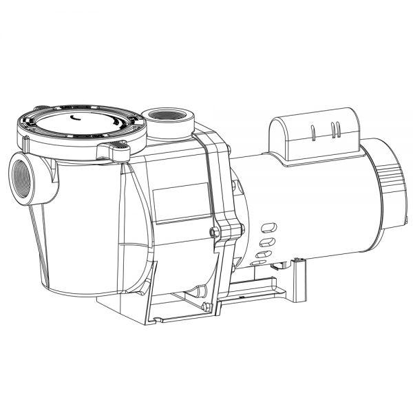Pentair WhisperFlo 1.5 HP Full Rated Pump 011514 WFE-6
