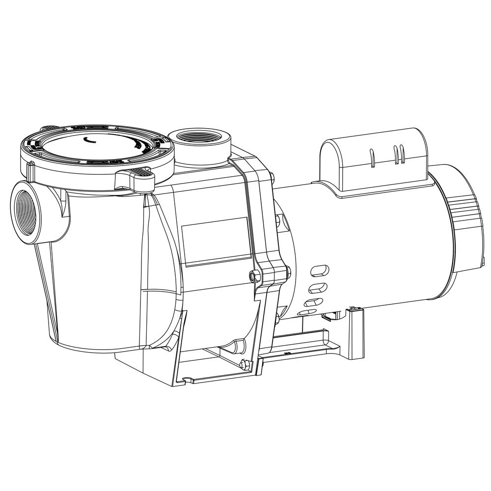 Pentair WhisperFlo 1 HP Full Rated Pump 011513 WFE-4