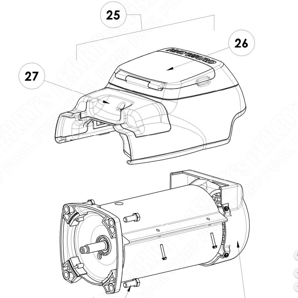 Hayward SPX3400DR Ecostar SVRS Motor Drive w/ Control