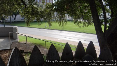 Dealey Plaza behind the fence
