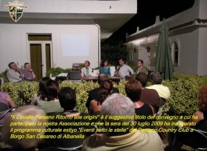 30 luglio 2009 – Convegno al Persano Country Club