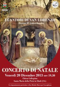 """Concerto di Natale dei """"Cantori di San Lorenzo"""" con testi a cura di Alessandra Gallotta"""