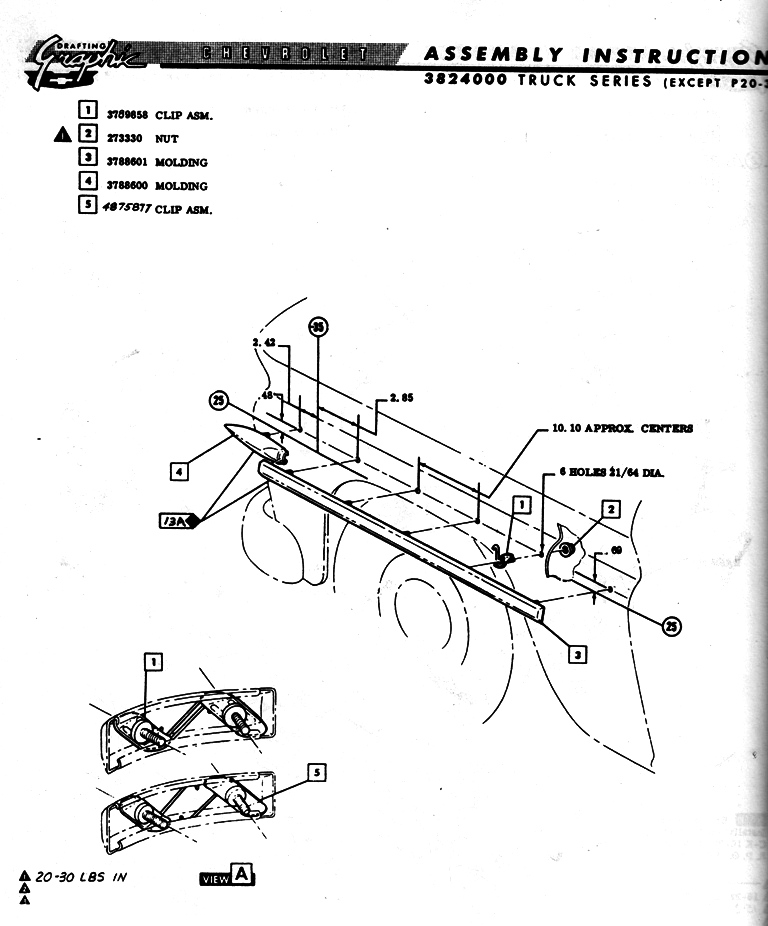 Idea Page: Trim Drawing for '60-'66 Chevy Pickup Trucks