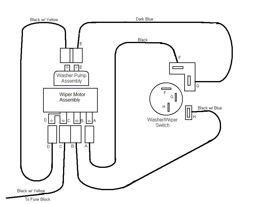 S10 Windshield Wiper Motor Wiring Diagram, S10, Free