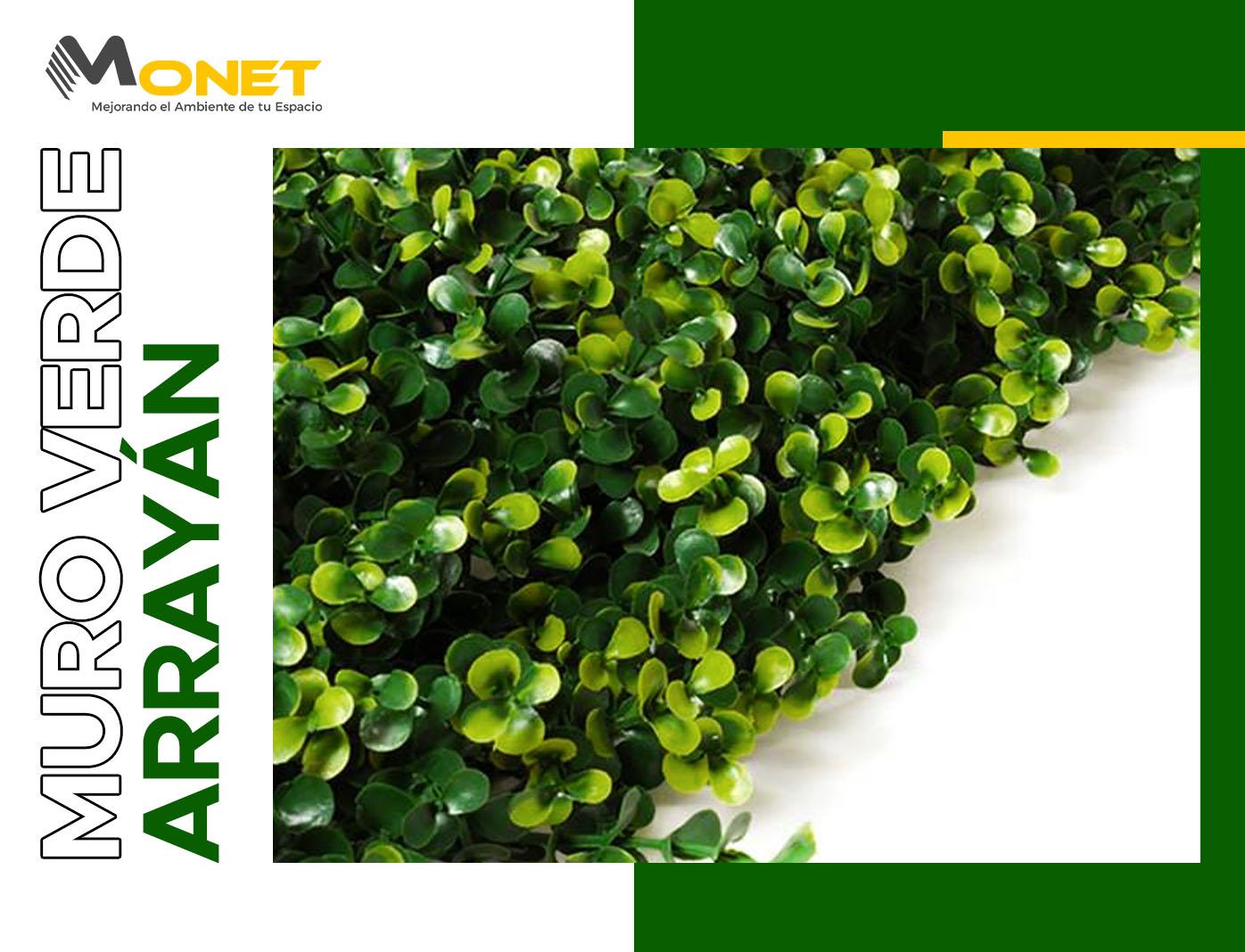Muro Verde Sintético Modelo Arrayán Premium