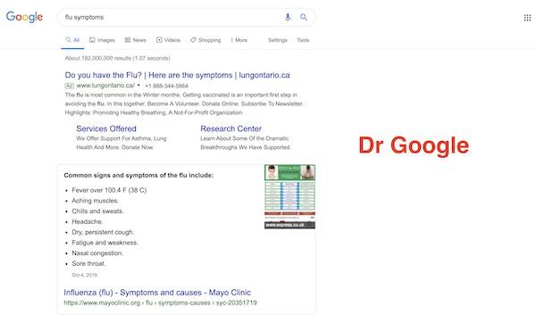افزایش مراجعه به دکتر گوگل