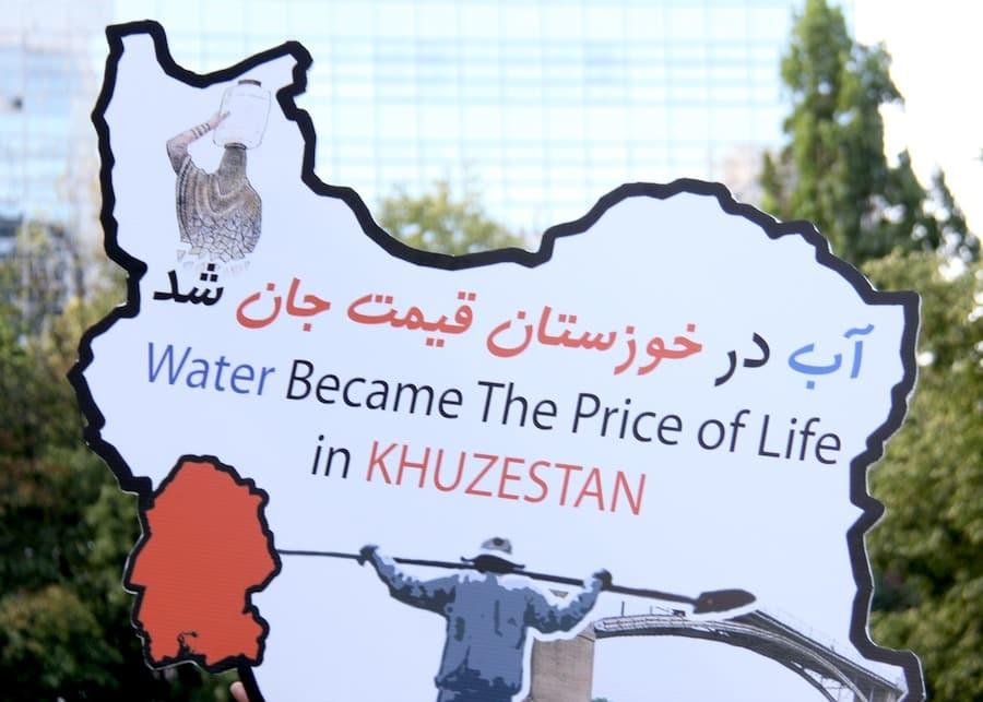 حمایت ایرانیان کانادا از مردم خوزستان