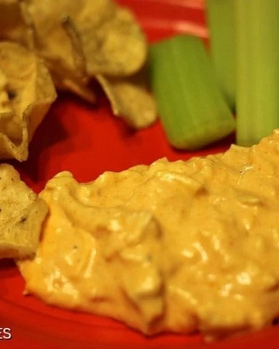 Slow Cooker Buffalo Chicken Dip   Persnickety Plates