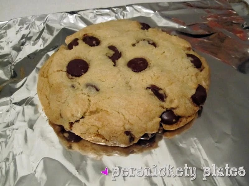 Giant Chocolate Chip Cookie for One...Or Two | Persnickety Plates