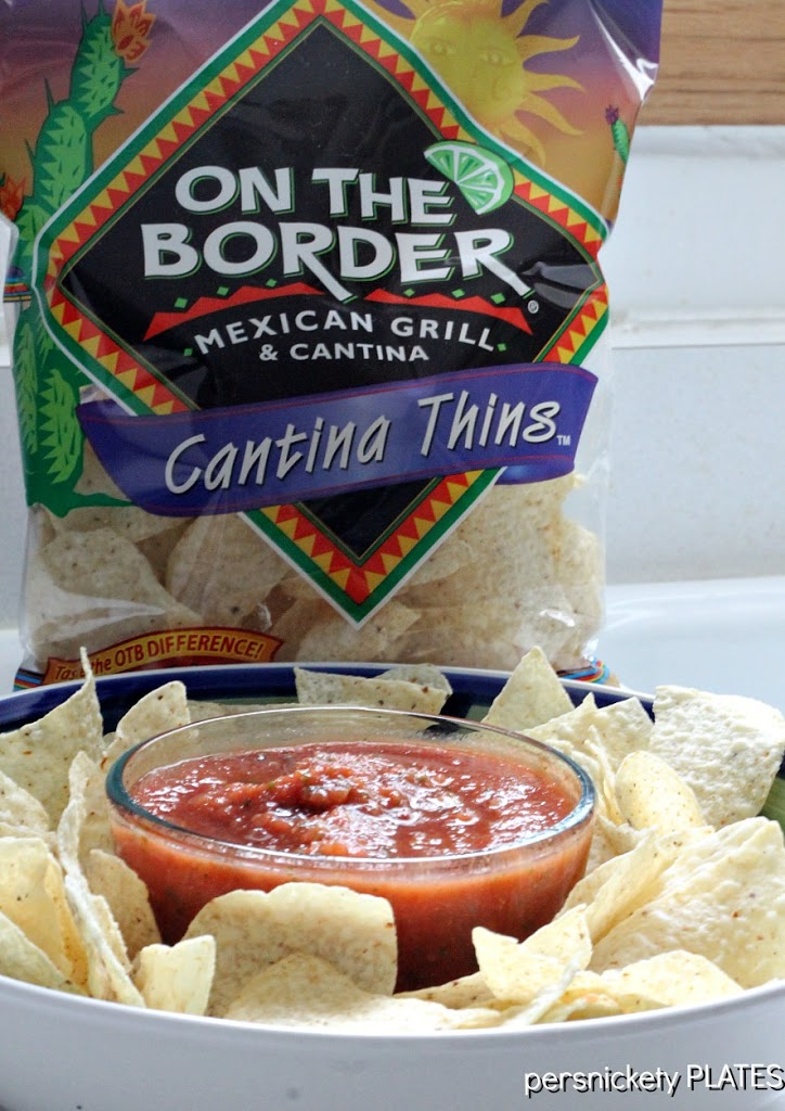 On the Border Copycat Salsa and On the Border tortilla chips