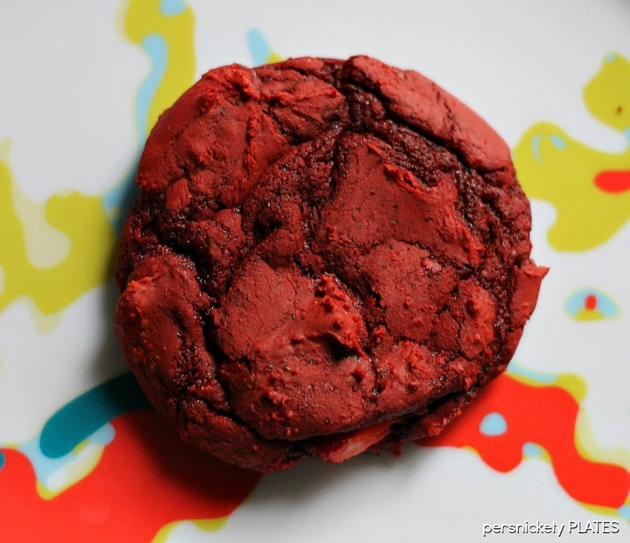red velvet cookie on plate