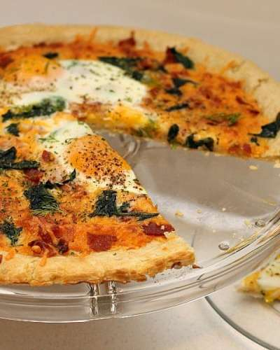 Bacon & Spinach Breakfast Pizza   Persnickety Plates