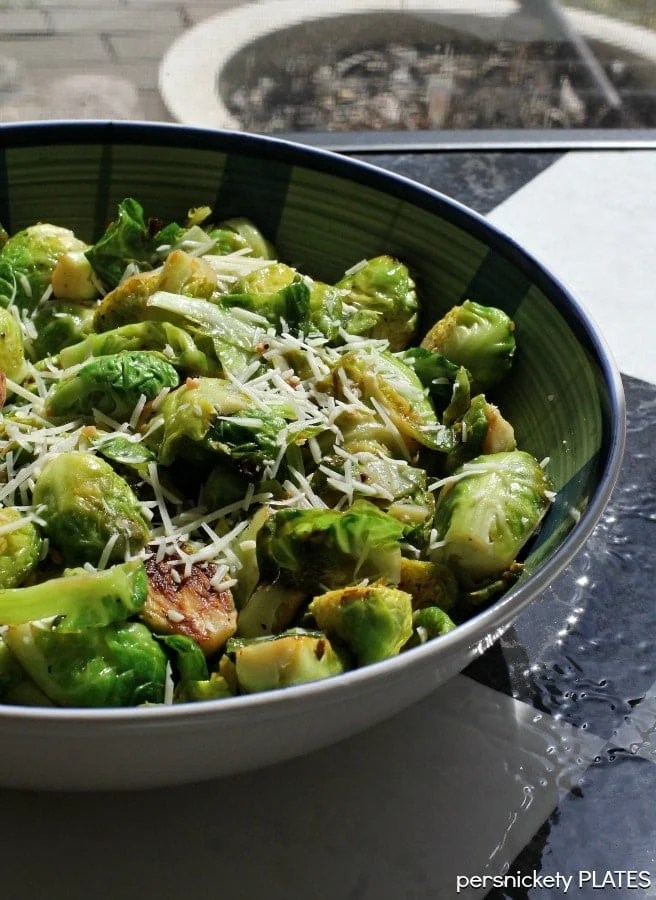 Lemon Garlic Brussels Sprouts | Persnickety Plates