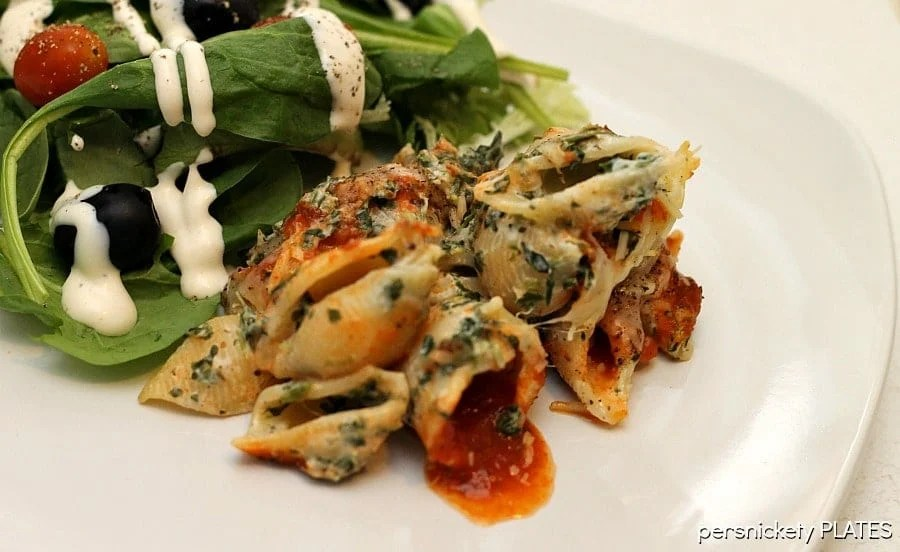 Spinach Unstuffed Shells | Persnickety Plates