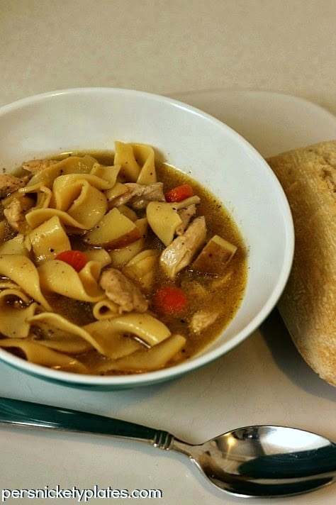 Quick & Easy Chicken Noodle Soup | Persnickety Plates