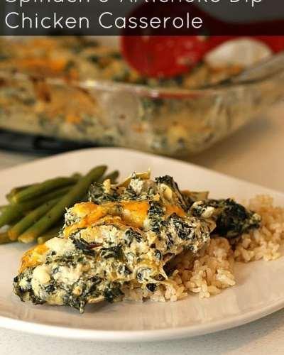 Spinach and Artichoke Dip Chicken Casserole