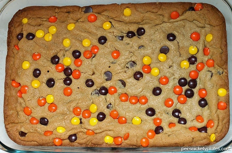 Reese's Pieces Peanut Butter Blondies   Persnickety Plates