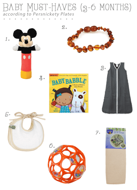 Baby Must-Haves (3-6 Months) | Persnickety Plates