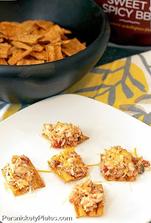 """Salsa Chicken """"Nachos"""" with SunChips {+ a giveaway!} 