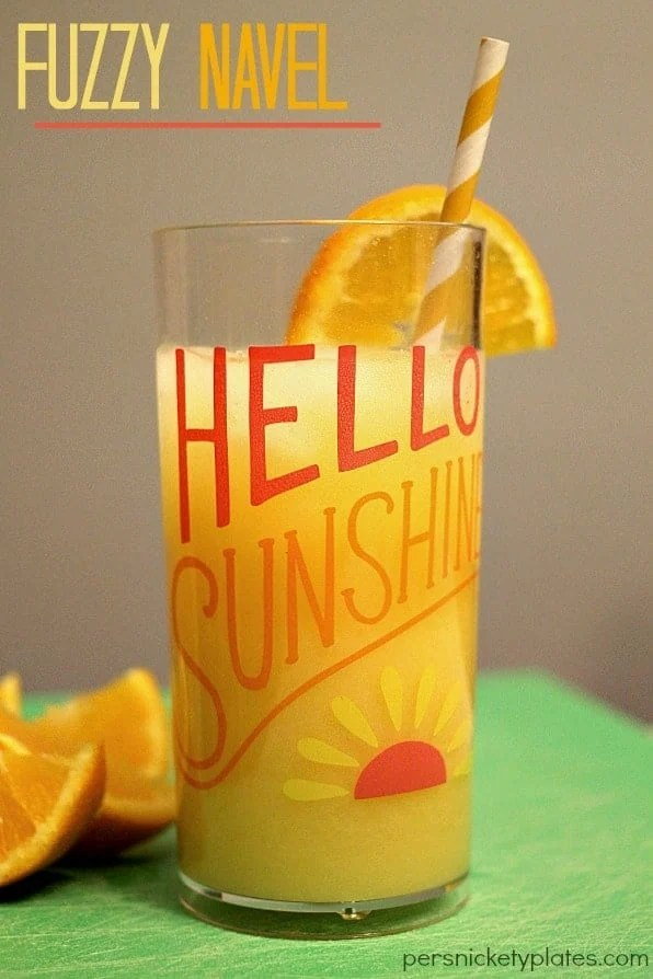 Fuzzy Navel - a fun, summery drink | Persnickety Plates