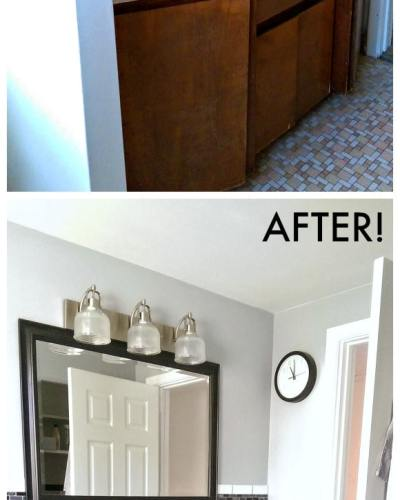 Average sized bathroom before and after pictures | Persnickety Plates