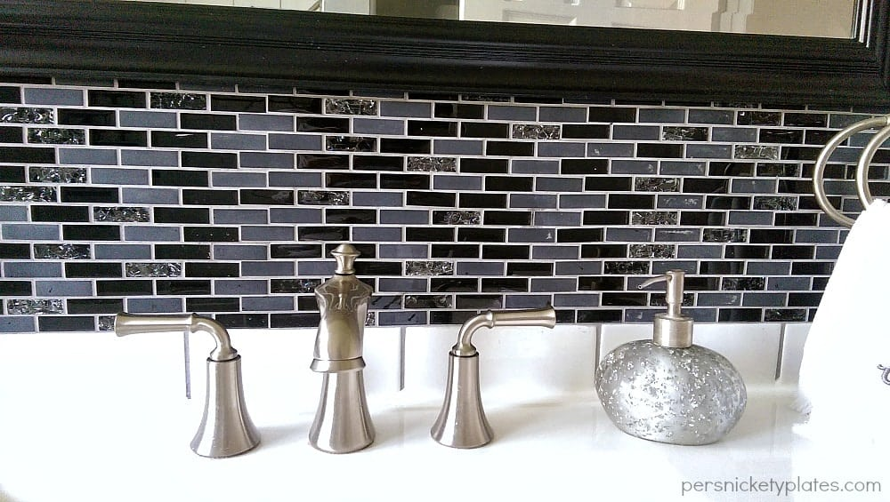 Mosaic Backsplash Close-Up | Persnickety Plates
