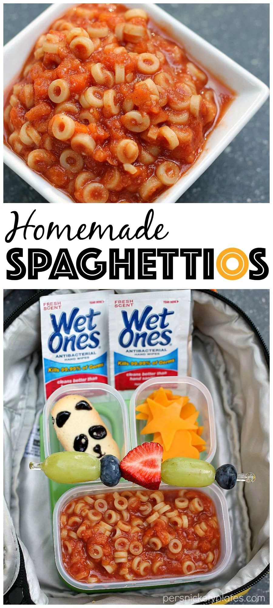 Homemade Spaghettios & Lunchbox Ideas for back to school | Persnickety Plates #ad #WishIHadAWetOnes