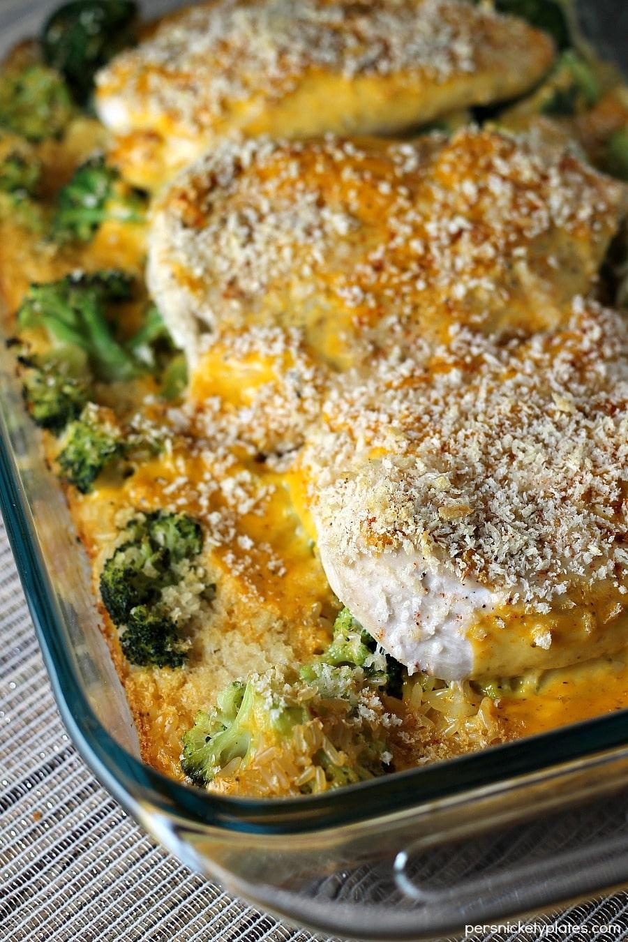 Cheesy Chicken Broccoli and Rice Casserole  Persnickety