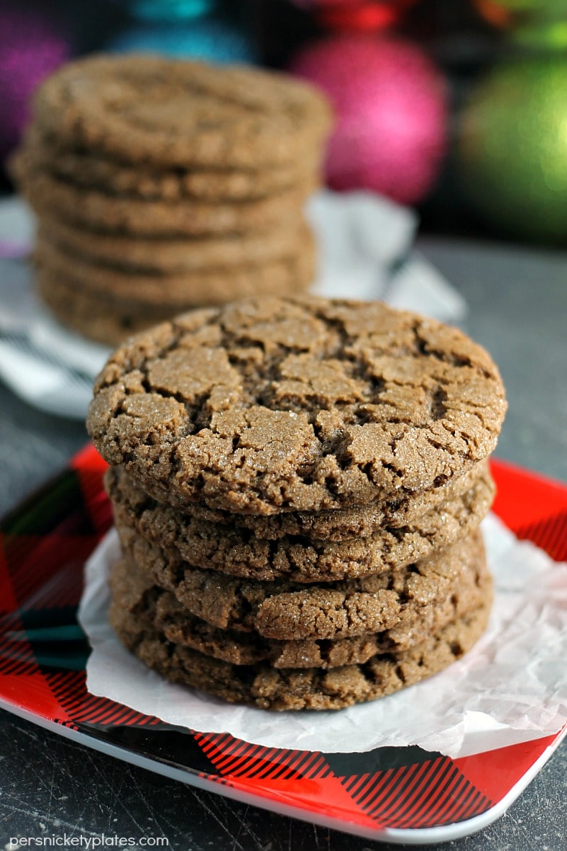 two stacks of chocolate cookies