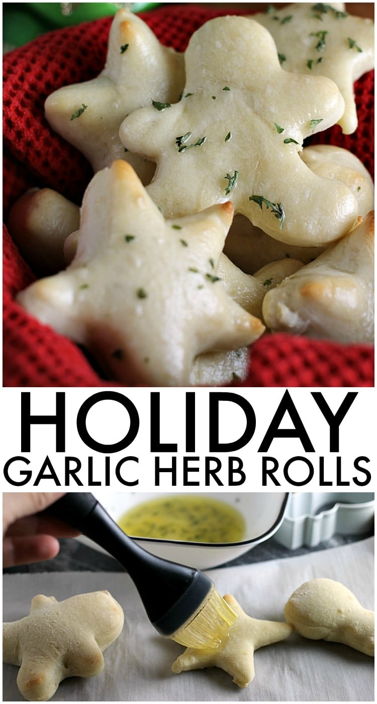 Holiday Garlic Herb Rolls | www.persnicketyplates.com via @pplates