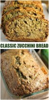 Classic Zucchini Bread filled with pecans (and sometimes chocolate chips!) is a simple but delicious way to use up your summer zucchini crop.   www.persnicketyplates.com