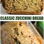 Classic Zucchini Bread filled with pecans (and sometimes chocolate chips!) is a simple but delicious way to use up your summer zucchini crop. | www.persnicketyplates.com