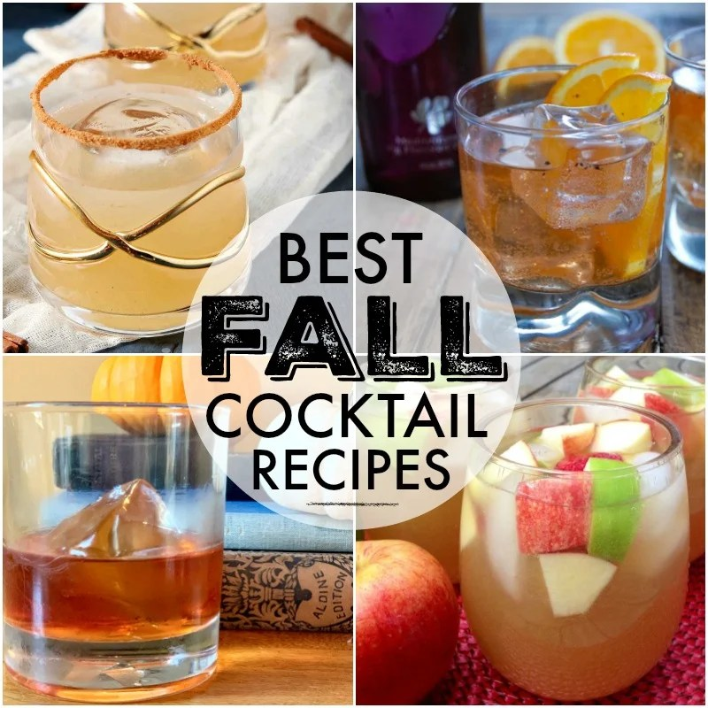 fall cocktail recipes collage