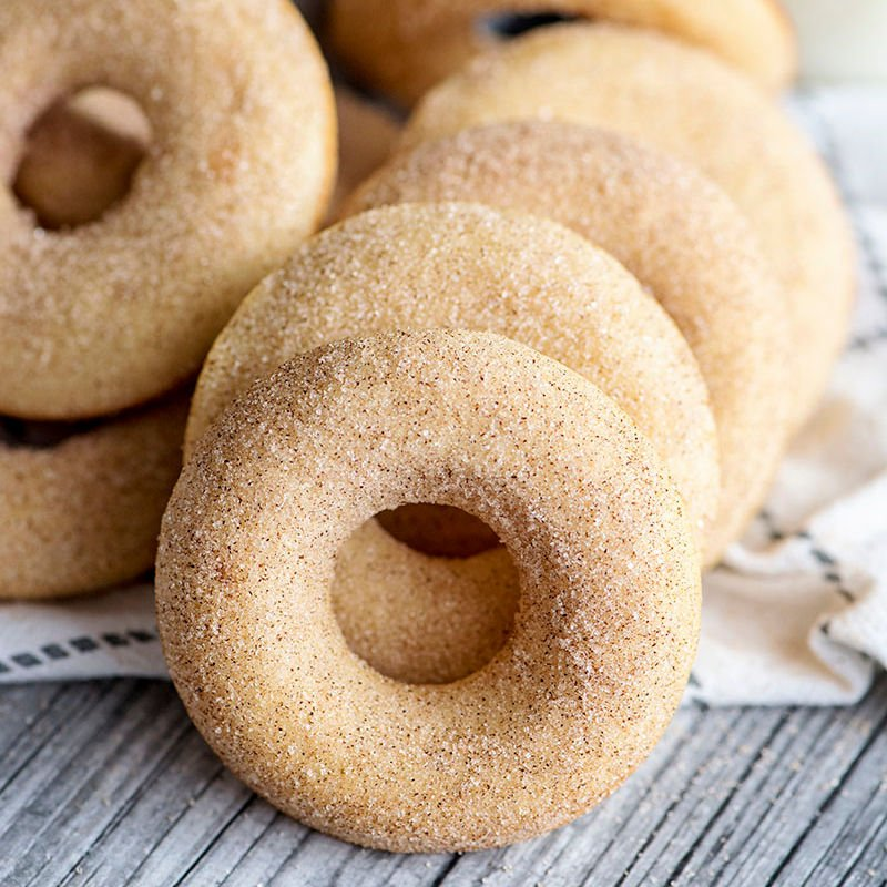 pile of baked donuts