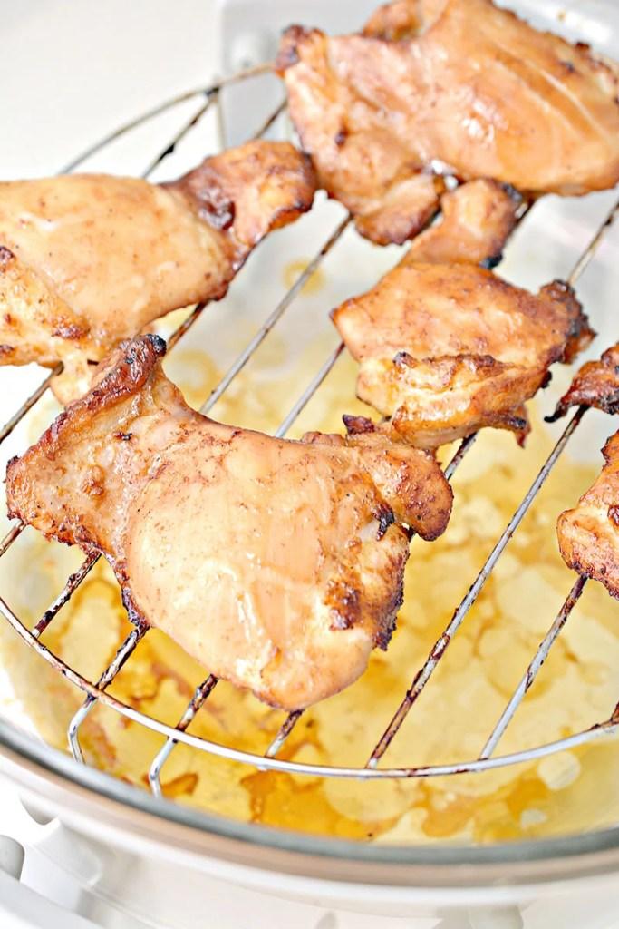 chicken thighs on air fryer rack