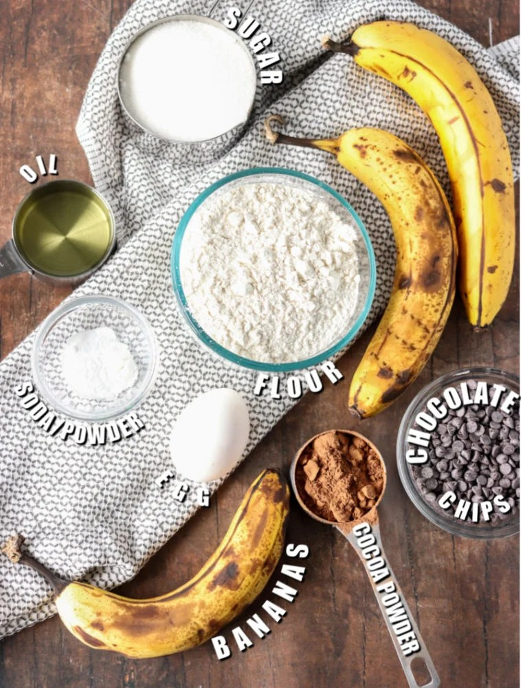ingredients laid out to make muffins