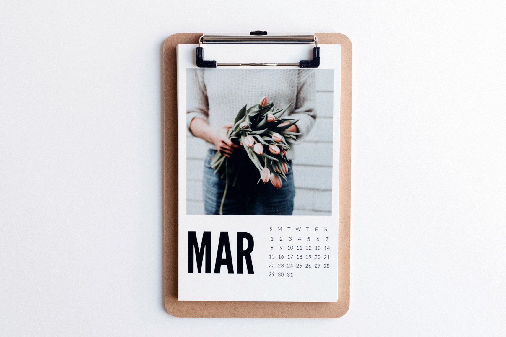 clipboard photo calendar