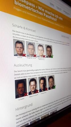 Biometrisches Passbild   Passbild  PersoFoto