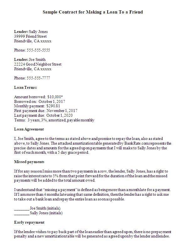 free loan agreement template pdf
