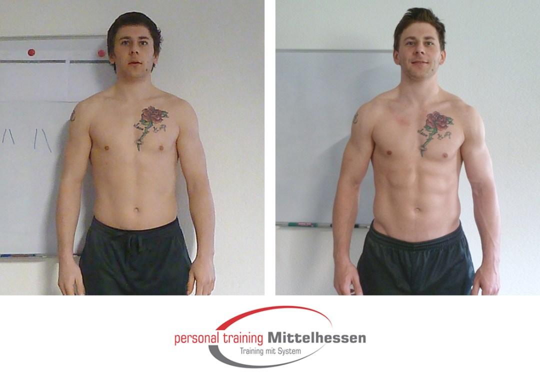 Muskeln aufbauen Shane Haskins Vorne