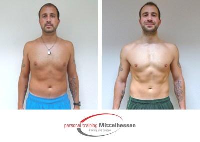Muskeln aufbauen: Ergebnis von Chris V