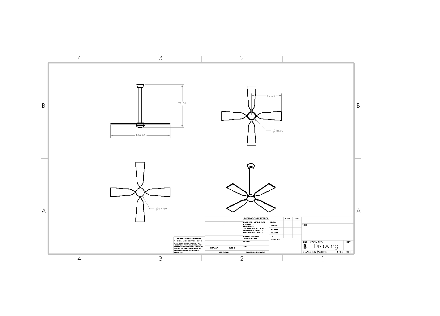 The links to my project summary, ceiling fan drawings and
