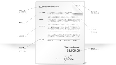 Cash advance credit card