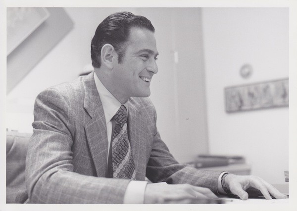 Dad in his office at Younkers back in the day