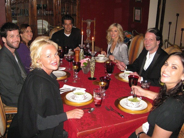 Dinner with Amanda Eliasch and friends