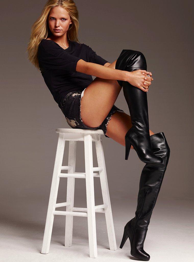 Black knee high boots