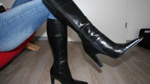 flat knee high boots